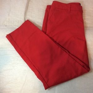 Red Mid-Rise Jeans
